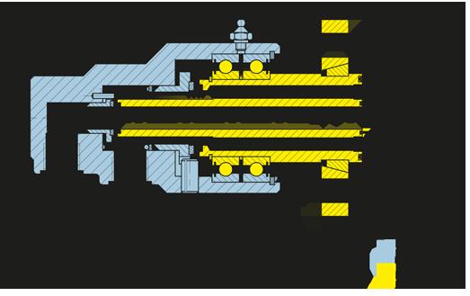 Girol: disegno tecnico del giunto rotante della serie D, versione con attacco a flangia