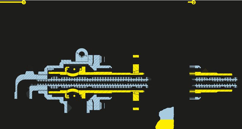 Foto Girol, disegno tecnico del giunto rotante della serie N, versione NF: tubo sifone rotante libero