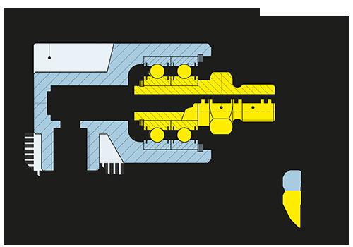 Girol Serie R disegno tecnico dei giunti rotanti