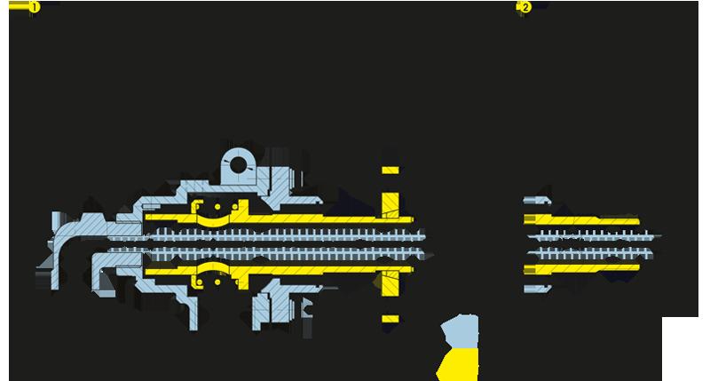 Foto Girol, disegno tecnico del giunto rotante della serie N, versione NR: tubo sifone fisso