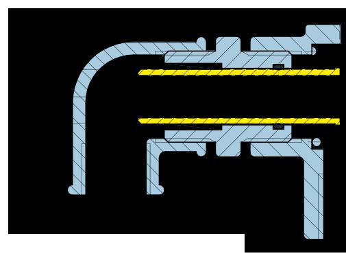 Girol Serie UT disegno tecnico dei giunti rotanti
