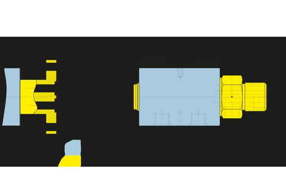 Foto Girol, disegno tecnico del giunto rotante della serie HD