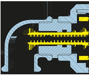 Foto Girol, disegno tecnico del giunto rotante della serie N, versione NT: tubo sifone con tenuta